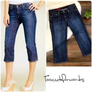 A G Adriano Goldschmied The Athena Cropped Jeans